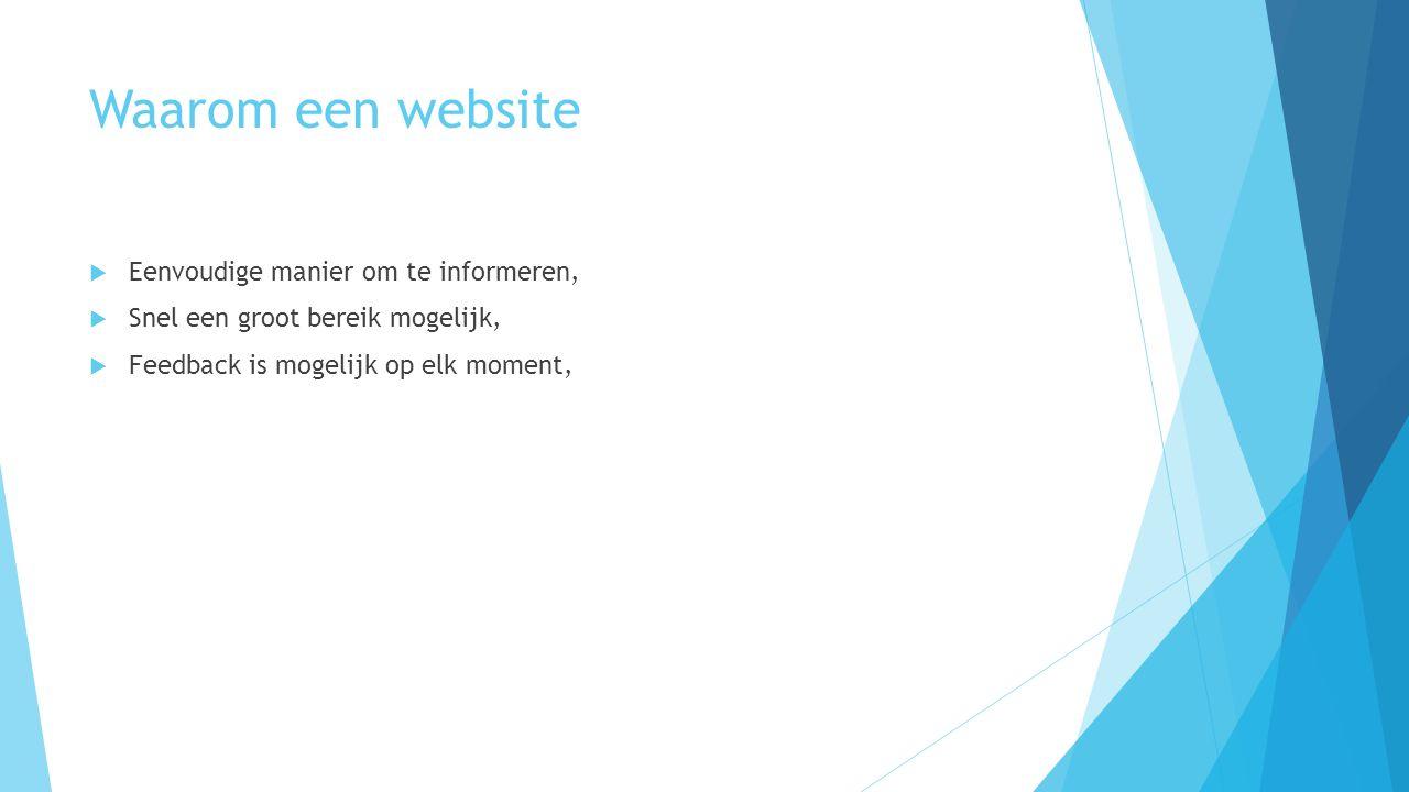Waarom een website Eenvoudige manier om te informeren,