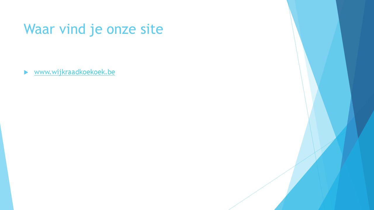 Waar vind je onze site www.wijkraadkoekoek.be