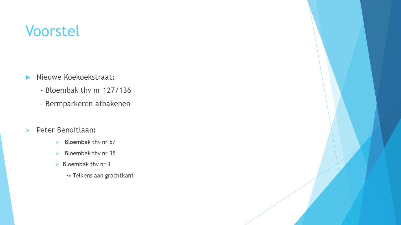 Voorstel Nieuwe Koekoekstraat: - Bloembak thv nr 127/136