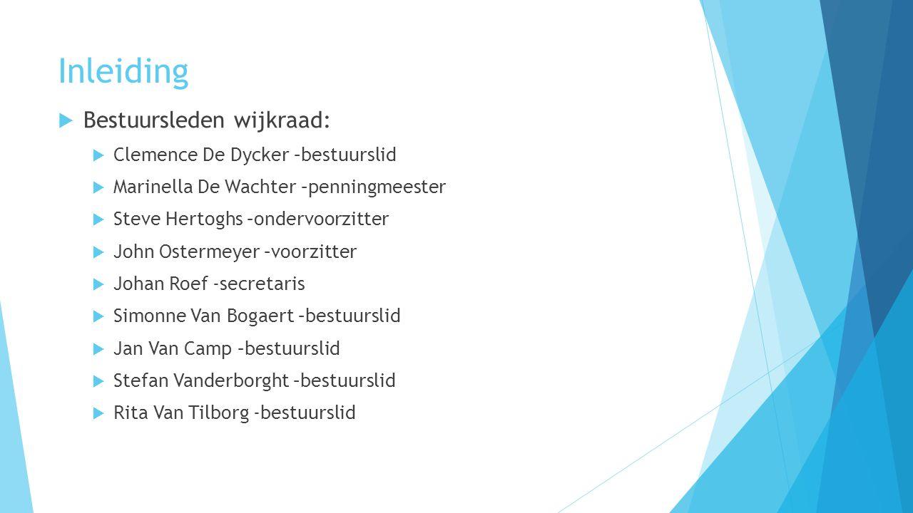 Inleiding Bestuursleden wijkraad: Clemence De Dycker –bestuurslid