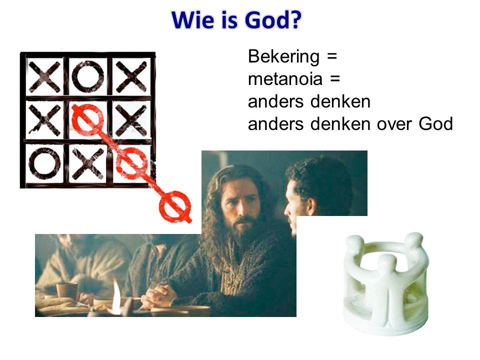Wie is God Bekering = metanoia = anders denken anders denken over God