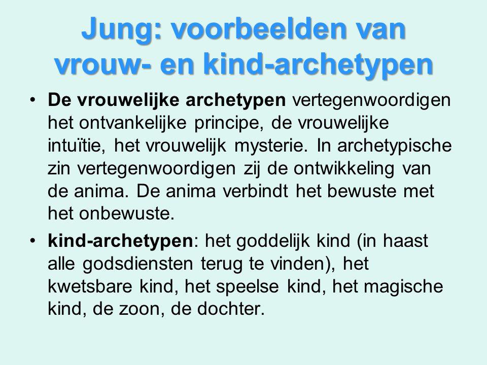 Jung: voorbeelden van vrouw- en kind-archetypen