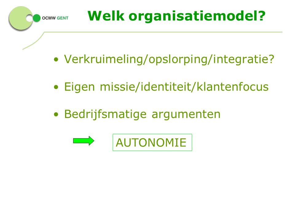 Welk organisatiemodel