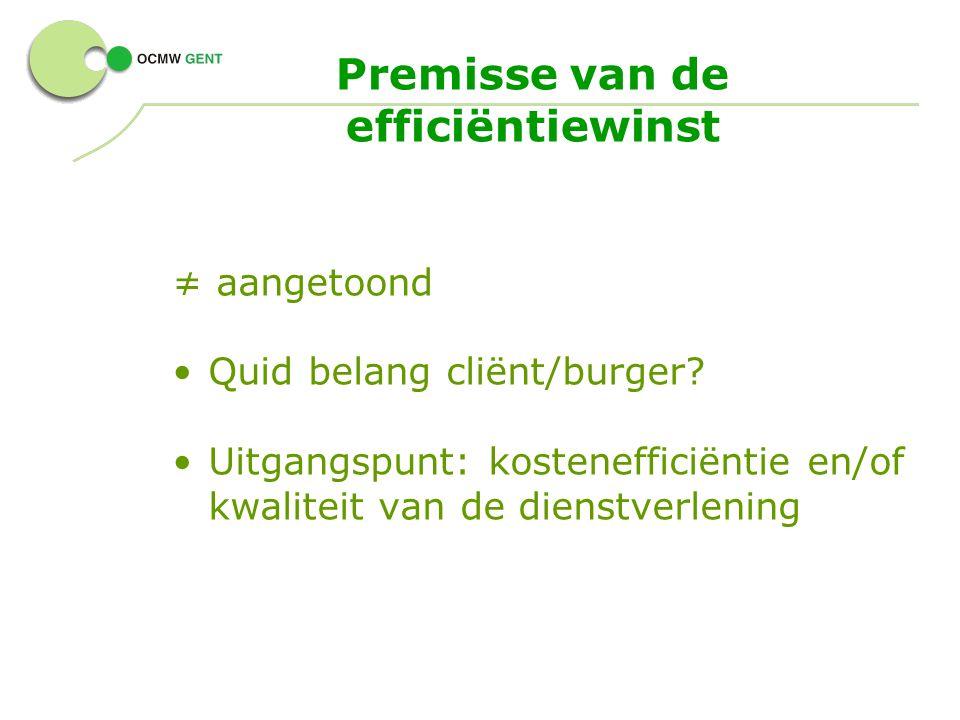 Premisse van de efficiëntiewinst