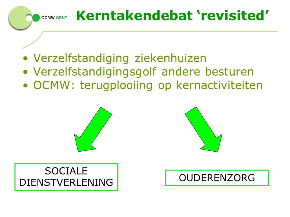 Kerntakendebat 'revisited'