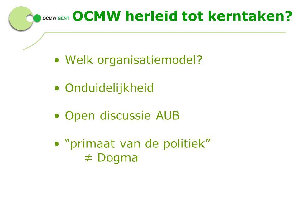 OCMW herleid tot kerntaken