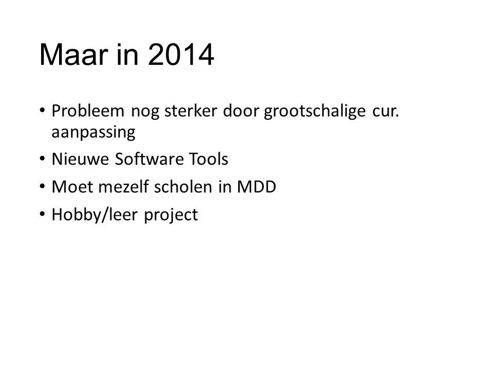 Maar in 2014 Probleem nog sterker door grootschalige cur. aanpassing