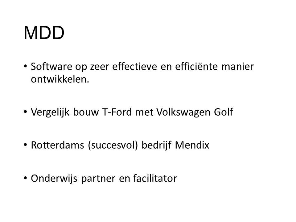 MDD Software op zeer effectieve en efficiënte manier ontwikkelen.