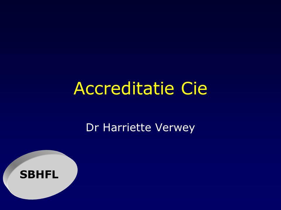 Accreditatie Cie Dr Harriette Verwey SBHFL