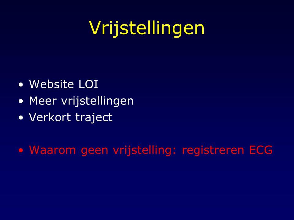 Vrijstellingen Website LOI Meer vrijstellingen Verkort traject