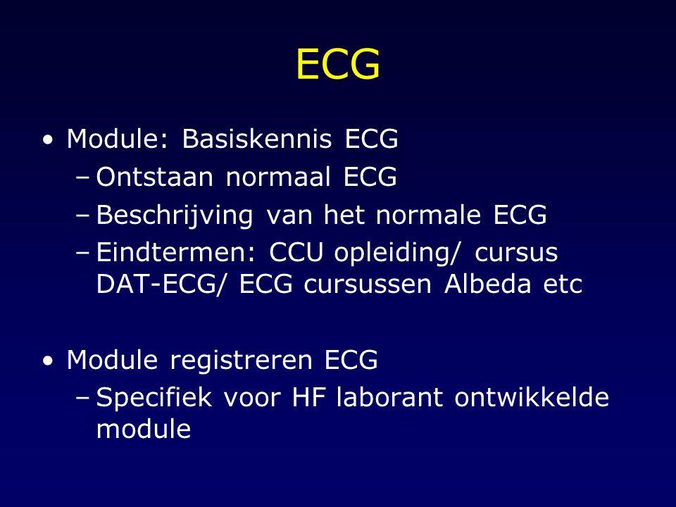 ECG Module: Basiskennis ECG Ontstaan normaal ECG