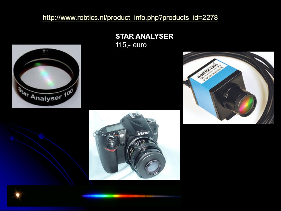 http://www.robtics.nl/product_info.php products_id=2278 STAR ANALYSER 115,- euro