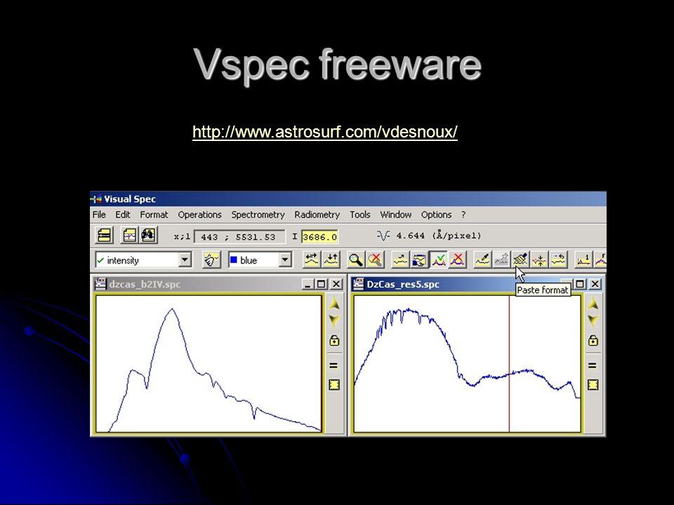 Vspec freeware http://www.astrosurf.com/vdesnoux/