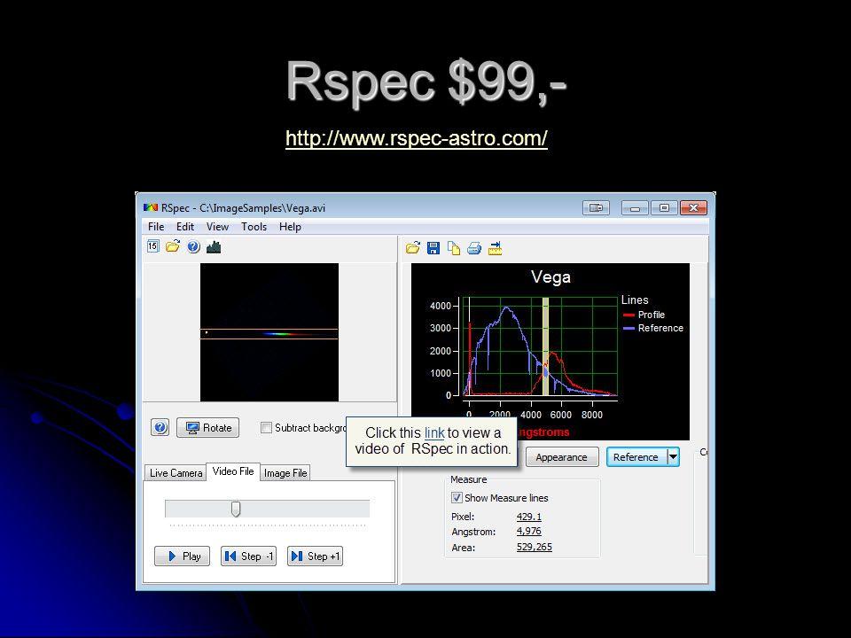 Rspec $99,- http://www.rspec-astro.com/