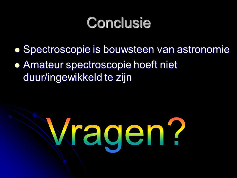 Vragen Conclusie Spectroscopie is bouwsteen van astronomie