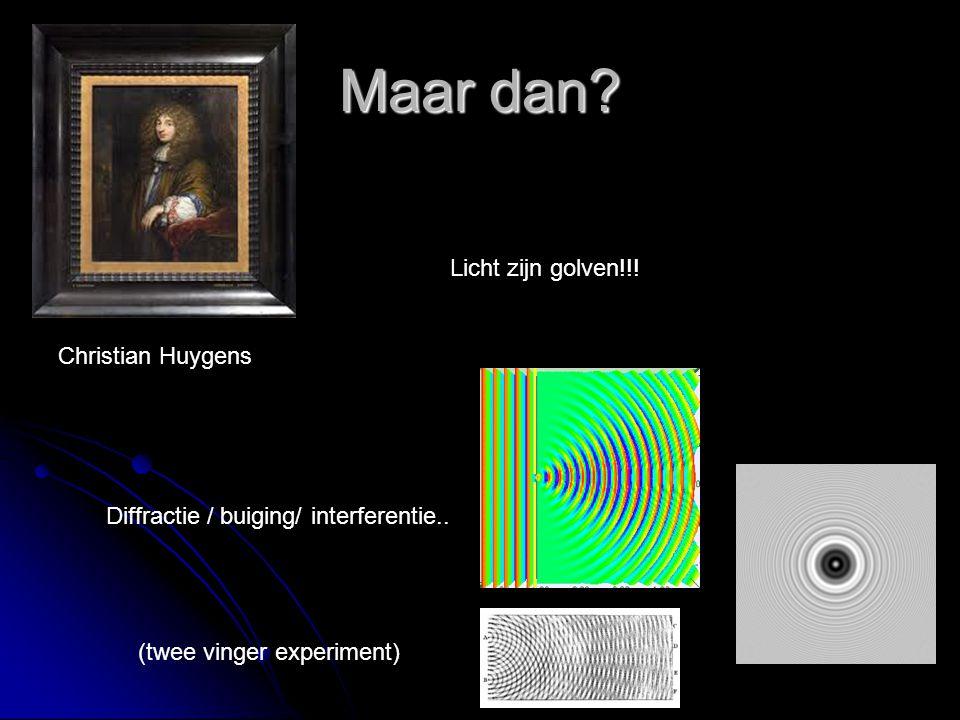 Maar dan Licht zijn golven!!! Christian Huygens