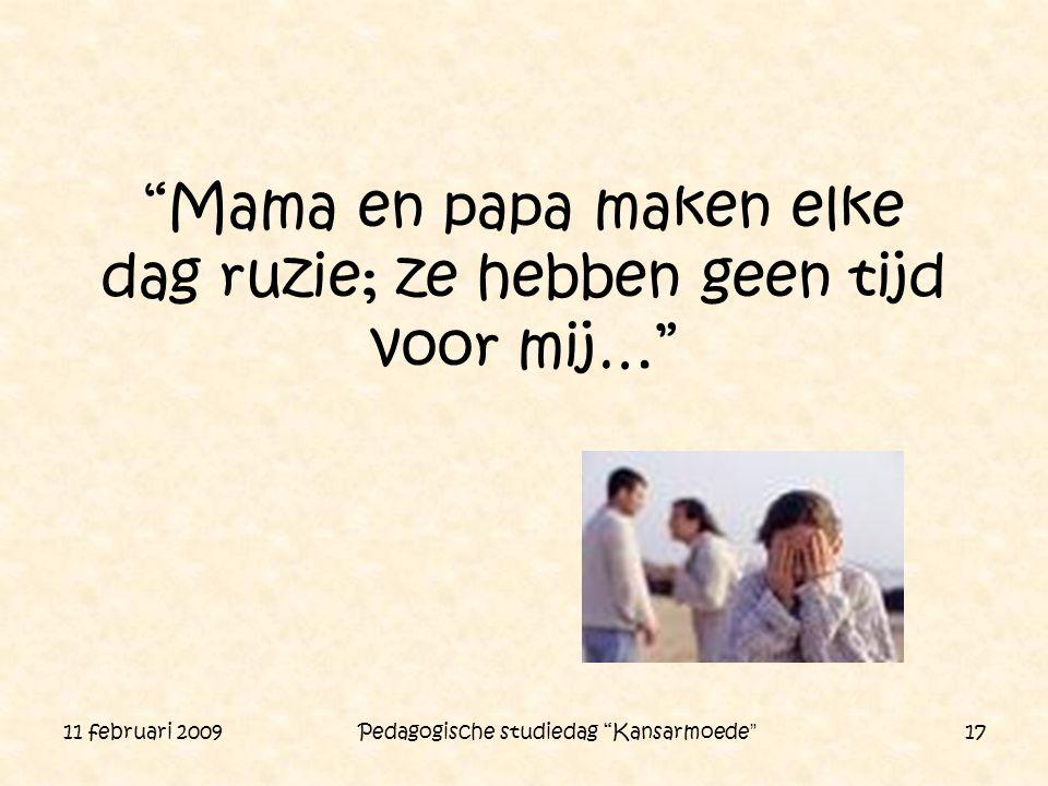 Mama en papa maken elke dag ruzie; ze hebben geen tijd voor mij…