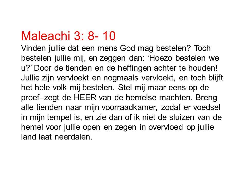 Maleachi 3: 8- 10