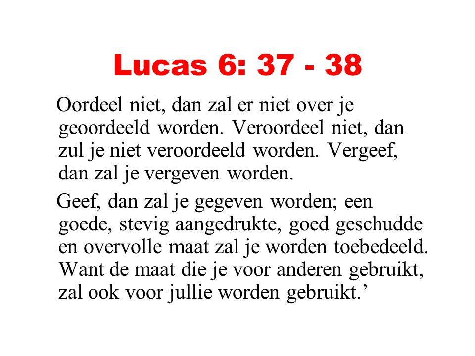 Lucas 6: 37 - 38