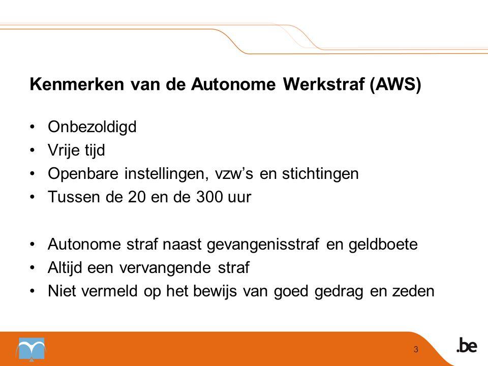 Kenmerken van de Autonome Werkstraf (AWS)