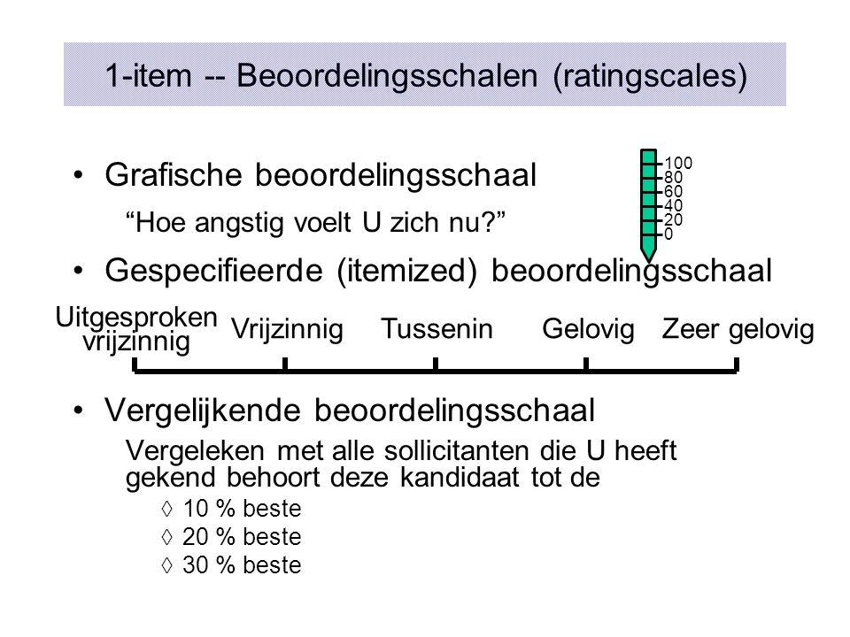 1-item -- Beoordelingsschalen (ratingscales)