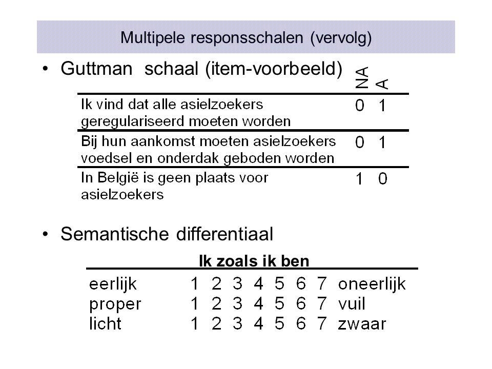 Multipele responsschalen (vervolg)