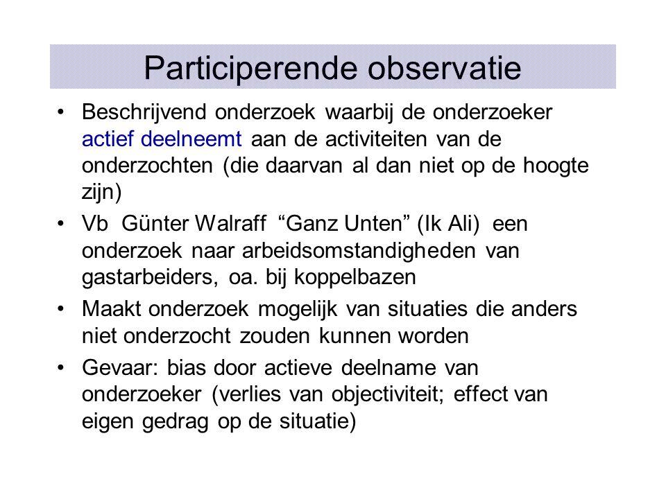 Participerende observatie