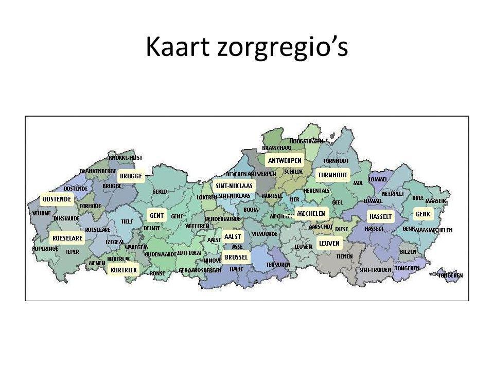 Kaart zorgregio's