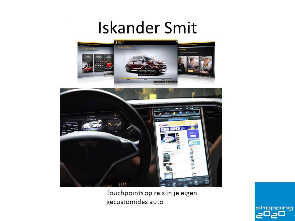 Iskander Smit Touchpoints op reis in je eigen gecustomides auto