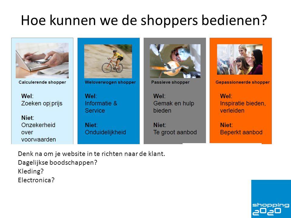 Hoe kunnen we de shoppers bedienen