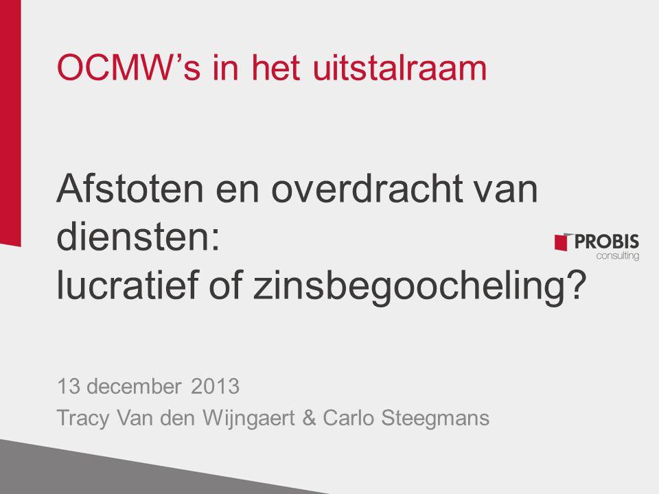 13 december 2013 Tracy Van den Wijngaert & Carlo Steegmans