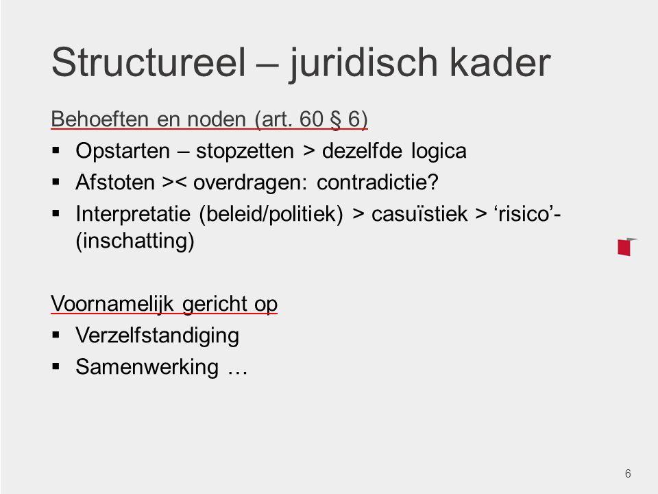 Structureel – juridisch kader
