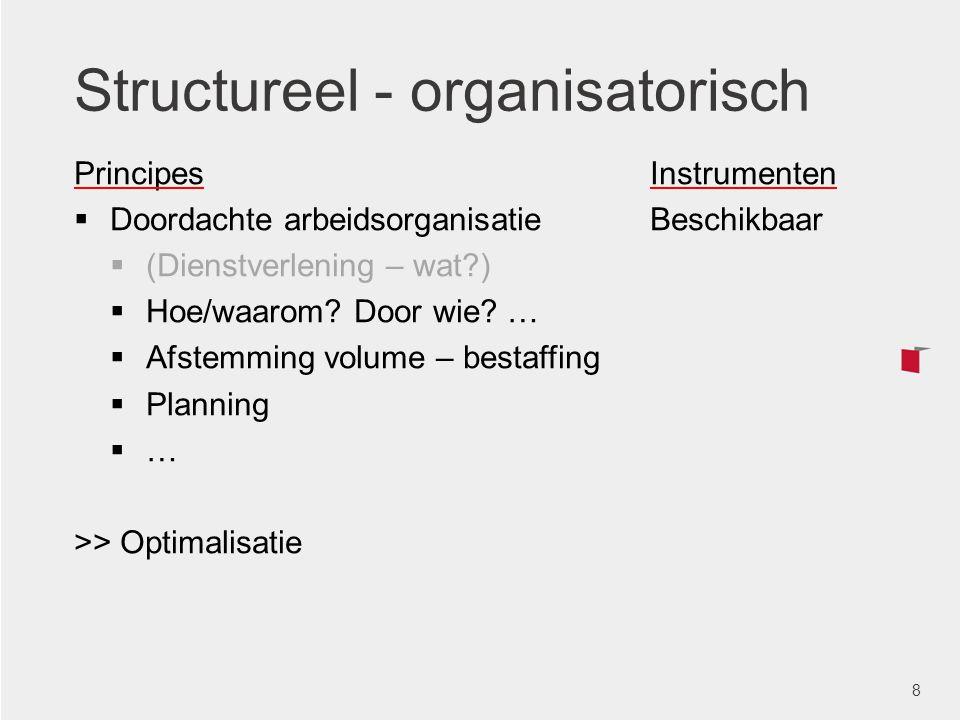 Structureel - organisatorisch