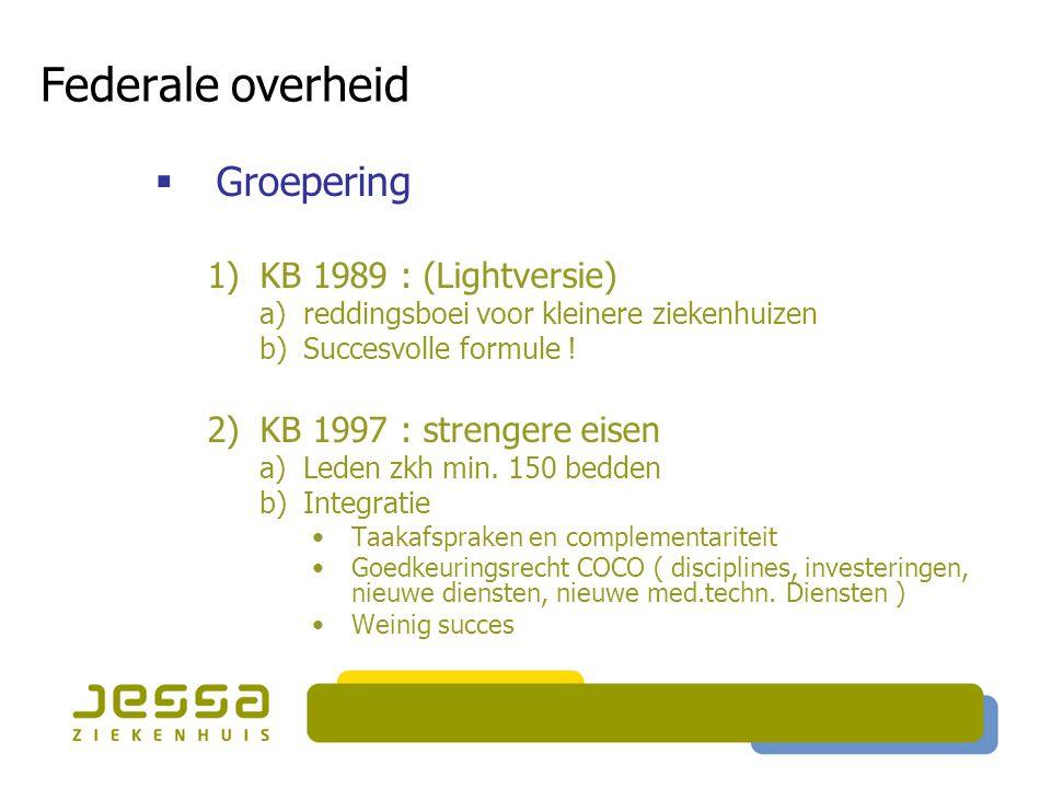 Federale overheid Groepering KB 1989 : (Lightversie)