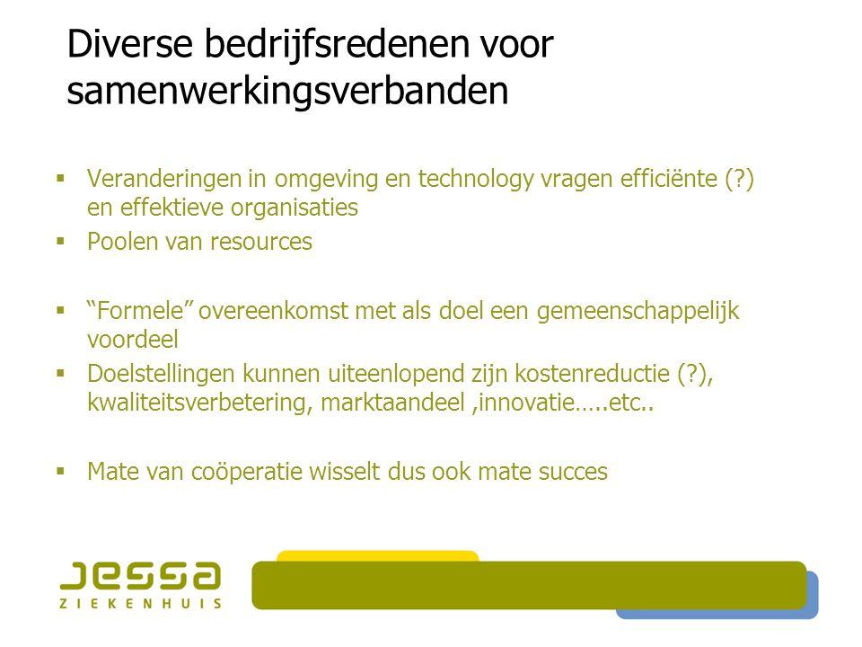 Diverse bedrijfsredenen voor samenwerkingsverbanden
