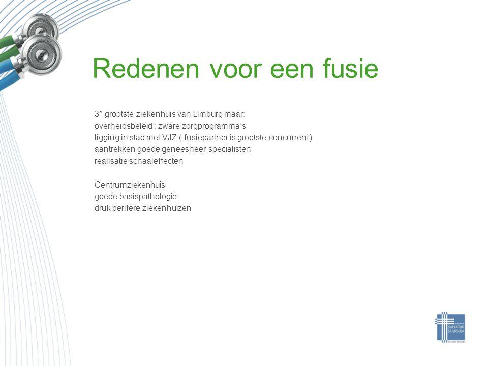 Redenen voor een fusie 3° grootste ziekenhuis van Limburg maar: