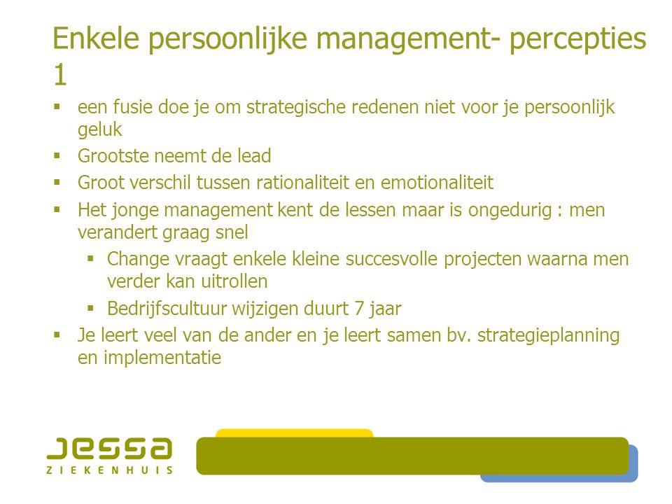 Enkele persoonlijke management- percepties 1