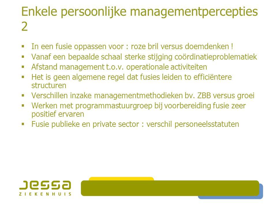 Enkele persoonlijke managementpercepties 2