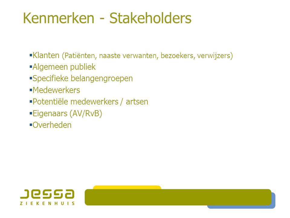 Kenmerken - Stakeholders