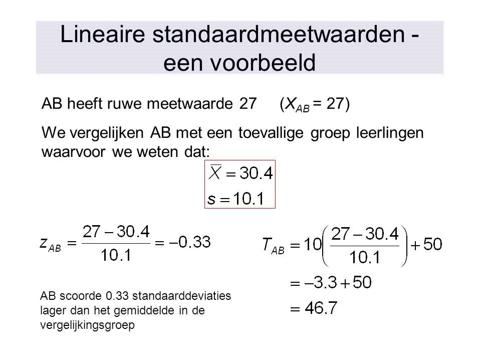 Lineaire standaardmeetwaarden - een voorbeeld