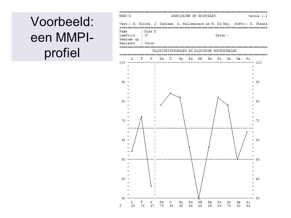 Voorbeeld: een MMPI-profiel