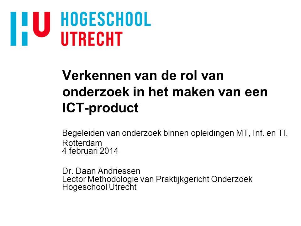 Verkennen van de rol van onderzoek in het maken van een ICT-product