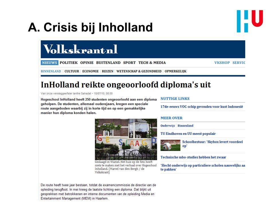 A. Crisis bij Inholland
