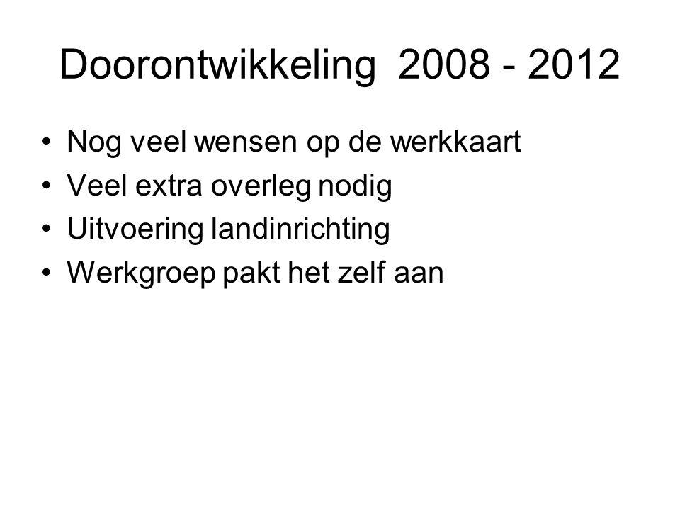 Doorontwikkeling 2008 - 2012 Nog veel wensen op de werkkaart