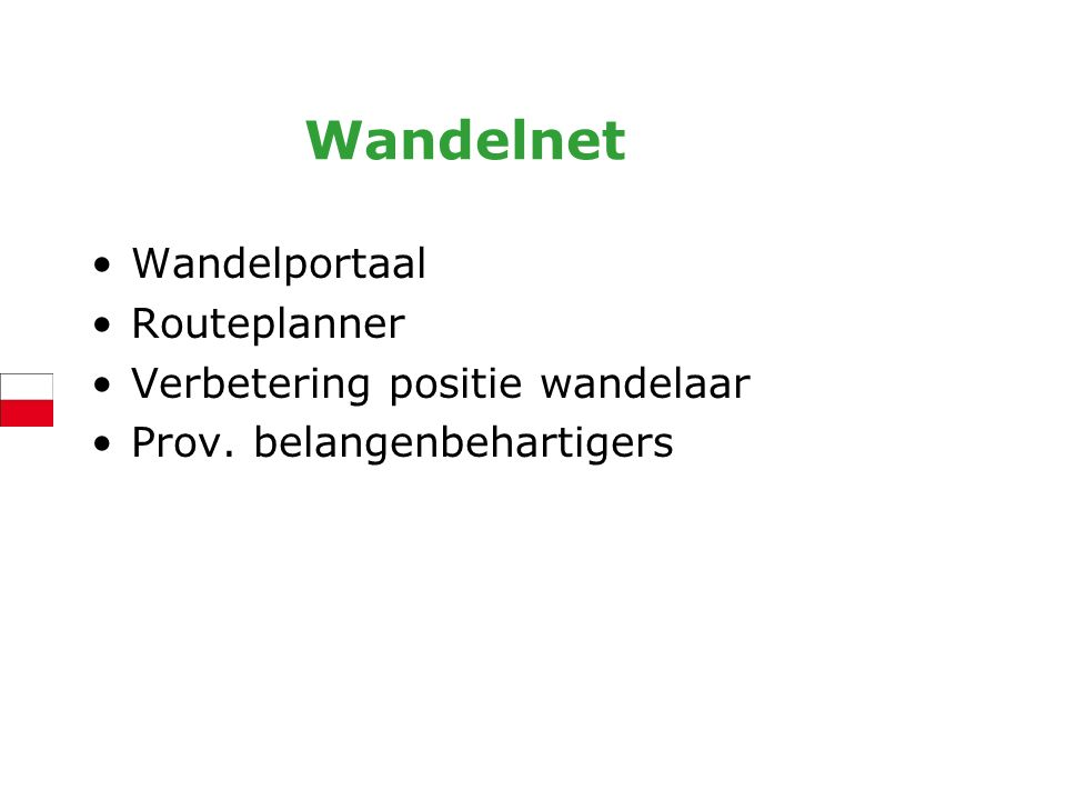 Wandelnet Wandelportaal Routeplanner Verbetering positie wandelaar