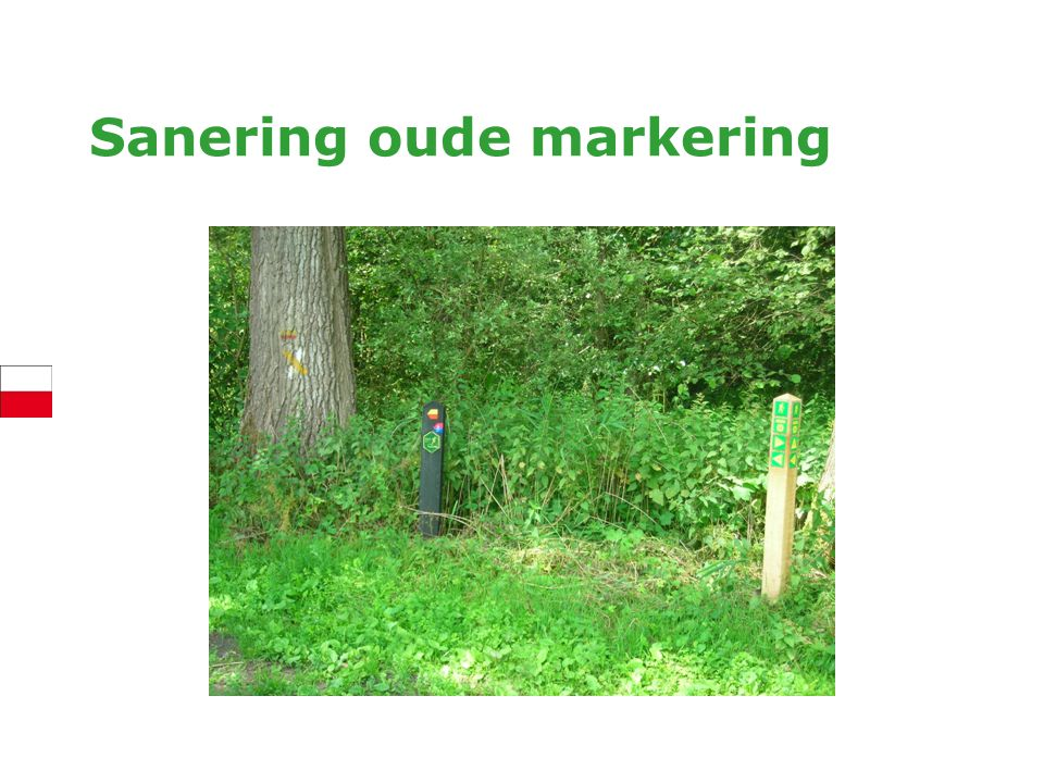 Sanering oude markering
