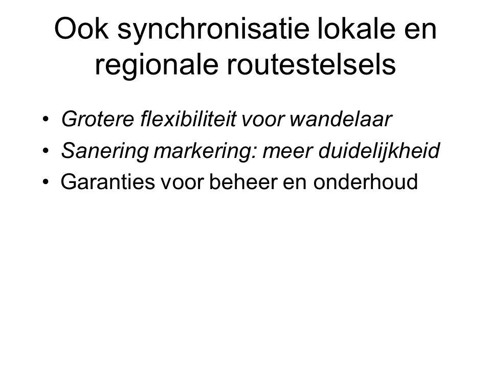 Ook synchronisatie lokale en regionale routestelsels