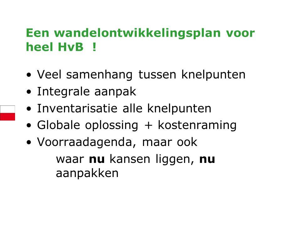 Een wandelontwikkelingsplan voor heel HvB !
