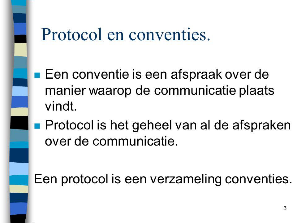 Protocol en conventies.