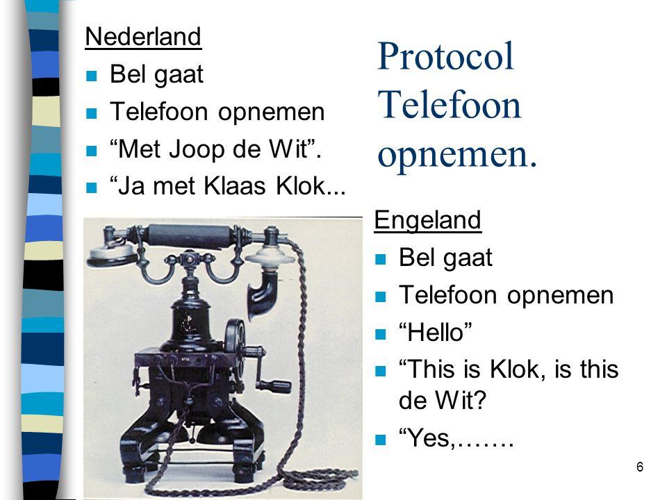 Protocol Telefoon opnemen.